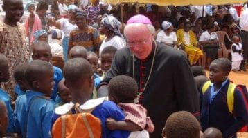 Bishop Philip Egan in Bamenda