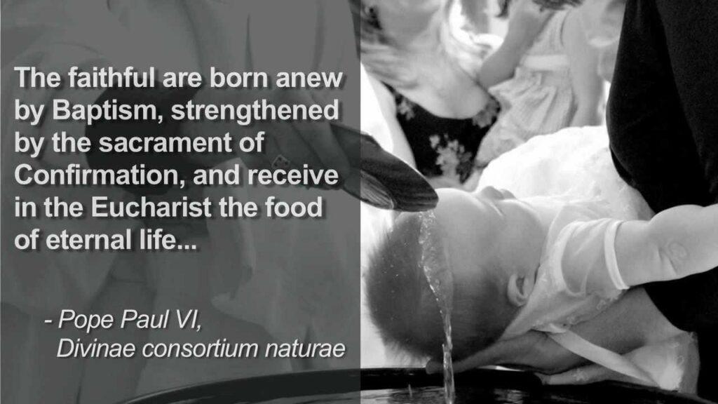 Baptism Pope Paul II