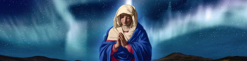 Blessed Virgin Mary banner prayer