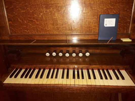 Organ OLOL - Keyboard and stops