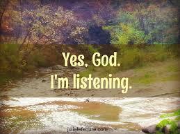 God I'm Listening